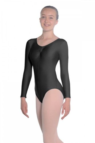 Roch Valley Martene Long Sleeved Leotard Nylon Lycra Black Dance Gymnastics